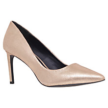 Buy KG by Kurt Geiger Bea Suede Court Shoes, Gold Online at johnlewis.com