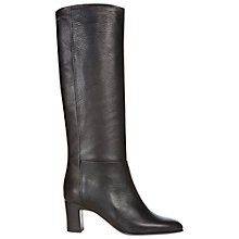 Buy Hobbs Reese Longboot Knee Boots, Black Online at johnlewis.com