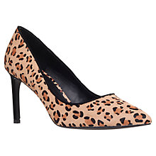 Buy KG by Kurt Geiger Bea Suede Court Shoes, Leopard Online at johnlewis.com