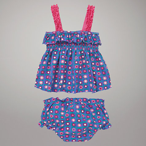 Buy John Lewis Flowered Fruit Print Tankini, Purple Online at johnlewis.com
