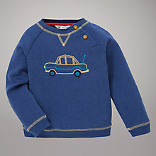 Buy John Lewis Taxi Motif Sweatshirt, Blue Online at johnlewis.com