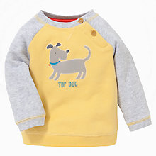 Buy John Lewis 'Top Dog' Colour Block Sweatshirt, Yellow/Grey Online at johnlewis.com