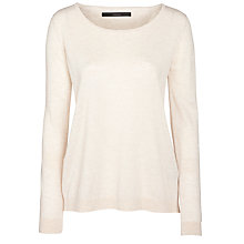 Buy Minimum Iris Jersey Blouse, Bone Online at johnlewis.com