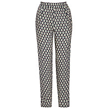 Buy Weekend by MaxMara Silk Ikat Trousers, Beige Online at johnlewis.com