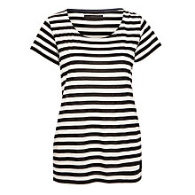 Buy Minimum Trillah Stripe T-shirt, Black Online at johnlewis.com