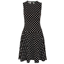 Buy Lauren by Ralph Lauren Sleeveless Polka-Dot Dress, Black/Pearl Online at johnlewis.com