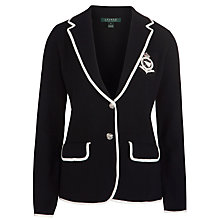 Buy Lauren by Ralph Lauren Cotton Blazer, Black/Pearl Online at johnlewis.com