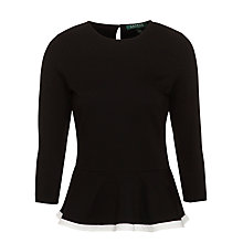 Buy Lauren by Ralph Lauren Rusley Top, Black Online at johnlewis.com