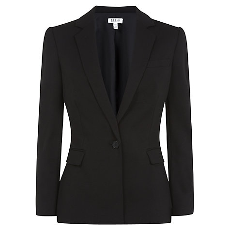 Buy Farhi by Nicole Farhi Summer Tweed Jacket, Black Online at johnlewis.com