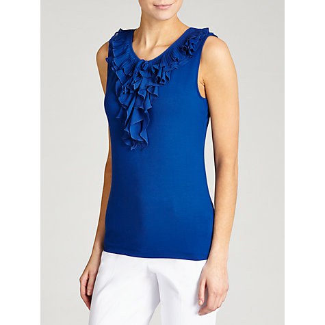 Buy Lauren by Ralph Lauren Sleeveless Ruffled Top, Cobalt Online at johnlewis.com