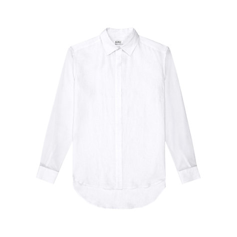 Buy Farhi by Nicole Farhi Linen Shirt, White Online at johnlewis.com