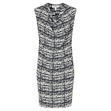 Buy Farhi by Nicole Fahri Textured Grid Dress, Ecru/Navy Online at johnlewis.com