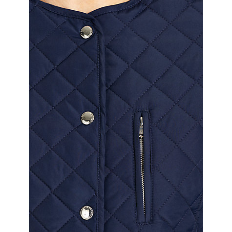 Buy Lauren by Ralph Lauren Quilted Peplum Jacket, Capri Navy Online at johnlewis.com