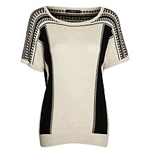 Buy Weekend by MaxMara Caco Knitted Top, Black Online at johnlewis.com