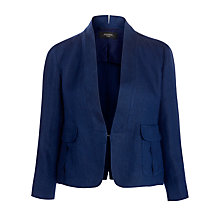 Buy Weekend by MaxMara Linen Fertile Jacket, Navy Online at johnlewis.com