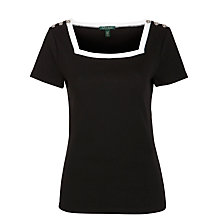 Buy Lauren by Ralph Lauren Glenca Jumper, Black/White Online at johnlewis.com