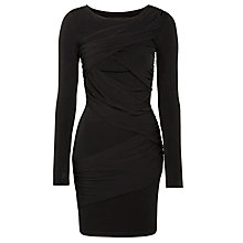 Buy Minimum Drape Detail Dress, Black Online at johnlewis.com