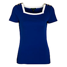 Buy Lauren by Ralph Lauren Glenca Knitted Top, Cobalt Blue Online at johnlewis.com