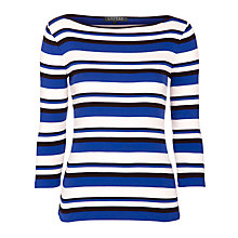 Buy Lauren by Ralph Lauren Soline Knitted Top, Multi Online at johnlewis.com