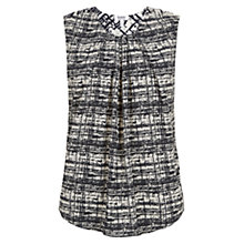 Buy Farhi by Nicole Farhi Grid Sleeveless Top, Ecru/Navy Online at johnlewis.com