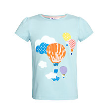 Buy John Lewis Girl Graphic Balloons T-Shirt, Blue Online at johnlewis.com