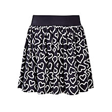 Buy John Lewis Girl Jersey Hearts Skirt, Black/White Online at johnlewis.com