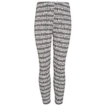 Buy John Lewis Girl Zig Zag Leggings, Black/Cream Online at johnlewis.com