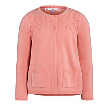Buy John Lewis Girl Knit Cardigan, Peach Online at johnlewis.com