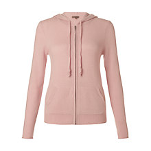 Buy Jigsaw Cashmere Hooded Zip Cardigan Online at johnlewis.com