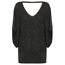 Buy Oasis Lurex Kaftan Jumper, Black Online at johnlewis.com