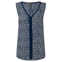 Buy Jigsaw Swallow Silk Top, Blue Online at johnlewis.com