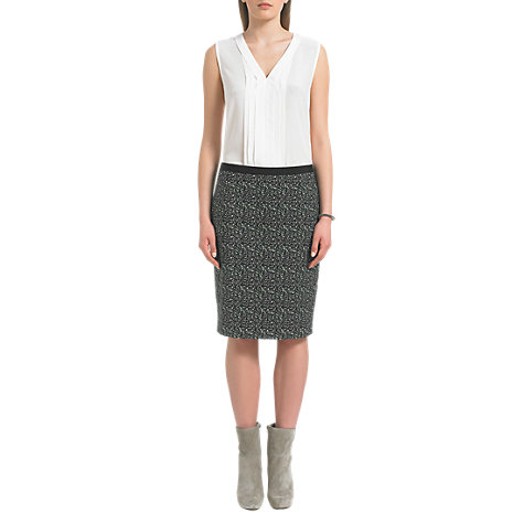 Buy Jigsaw Tweed Print Pencil Skirt, Multi Online at johnlewis.com