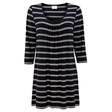 Buy East Stripe Tunic, Navy Online at johnlewis.com