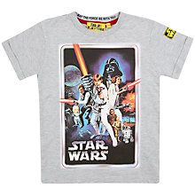Buy Star Wars A New Hope T-Shirt, Grey Online at johnlewis.com