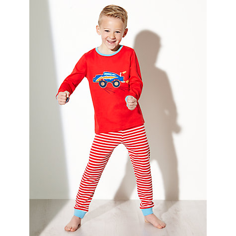 Buy John Lewis Boy Monster Truck Pyjamas, Pack of 2, Red/Blue Online at johnlewis.com