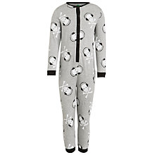 Buy John Lewis Boy Skull Print Onesie, Navy Online at johnlewis.com