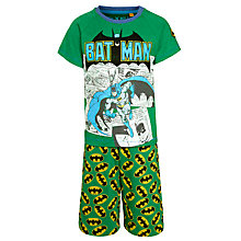 Buy Batman Comic Shortie Pyjamas, Green Online at johnlewis.com
