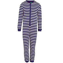 Buy John Lewis Boy Stripe Onesie, Navy/White Online at johnlewis.com