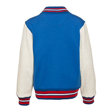 Buy Converse Boys' Baseball Jacket, Blue/Oatmeal Online at johnlewis.com