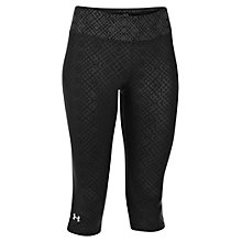 Buy Under Armour Sonic Capri Pants, Black Online at johnlewis.com