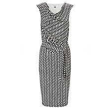 Buy COLLECTION by John Lewis Adele Herringbone Dress, Black/White Online at johnlewis.com