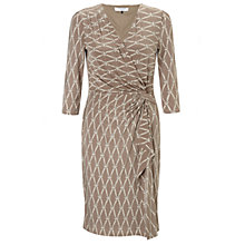 Buy COLLECTION by John Lewis Whitney Rope Print Dress, Biscuit/Vanilla Online at johnlewis.com