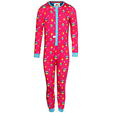 Buy Kids Company Flower Print Onesie, Pink Online at johnlewis.com