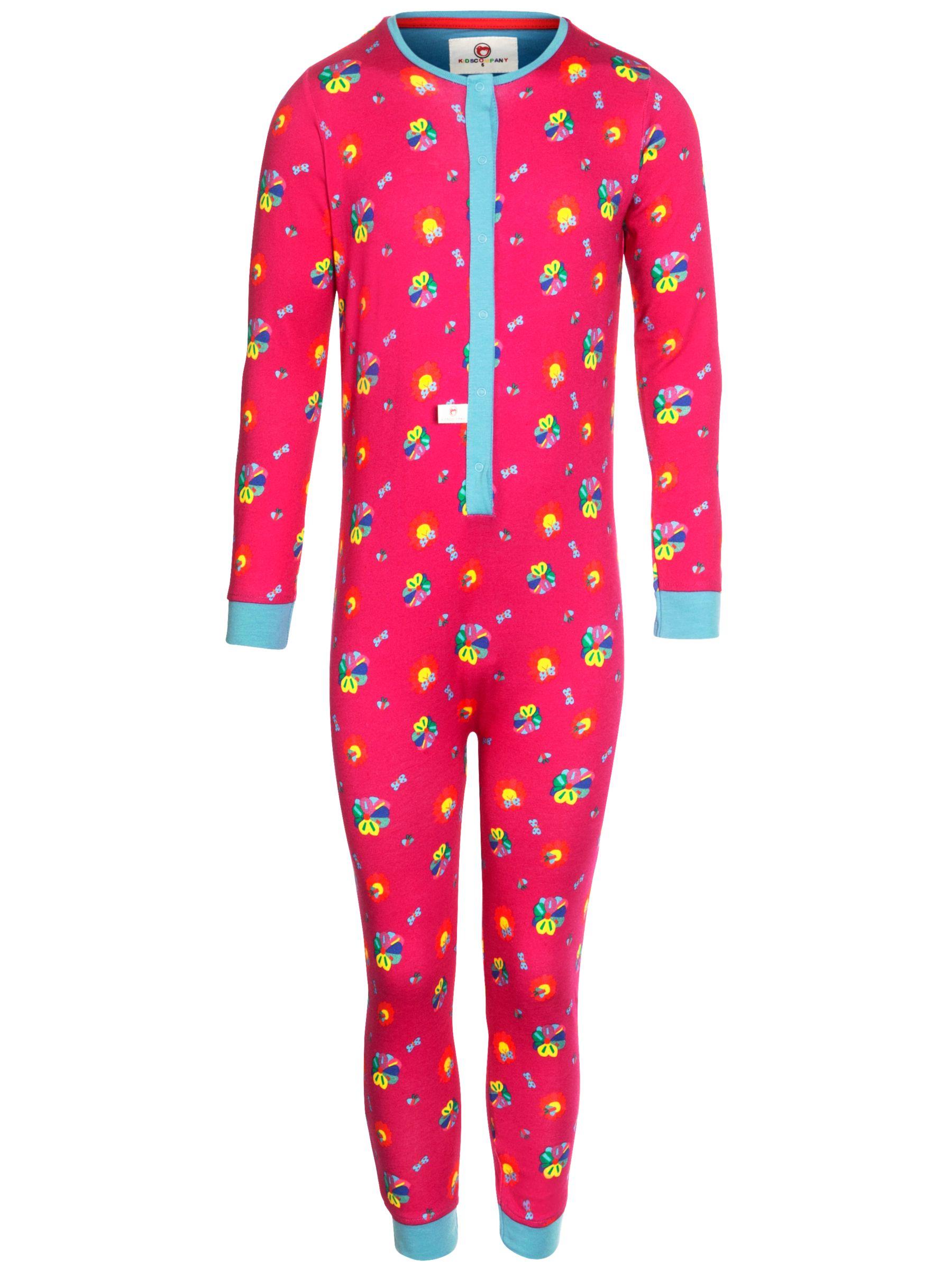 Kids Company Flower Print Onesie, Pink
