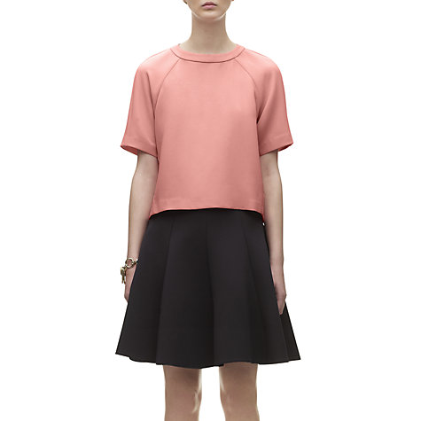 Buy Whistles Tessa Sporty Crepe Top, Pink Online at johnlewis.com