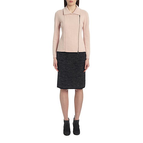 Buy Jigsaw Cashangora Mouline Skirt, Dark Grey Online at johnlewis.com