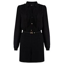 Buy Oasis Utility Shirt Playsuit, Black Online at johnlewis.com