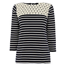 Buy Oasis Stripe Top, Multi Blue Online at johnlewis.com