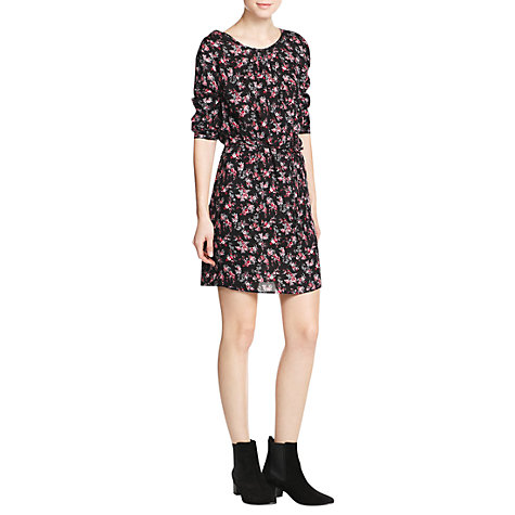Buy Mango Floral Dress, Black Online at johnlewis.com