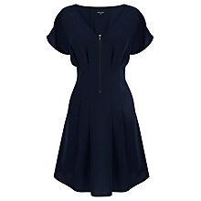 Buy Warehouse Zip Front Dress, Midnight Online at johnlewis.com